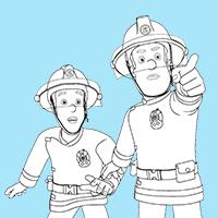 Feuerwehrmann Sam Ausmalbilder - Titelbild