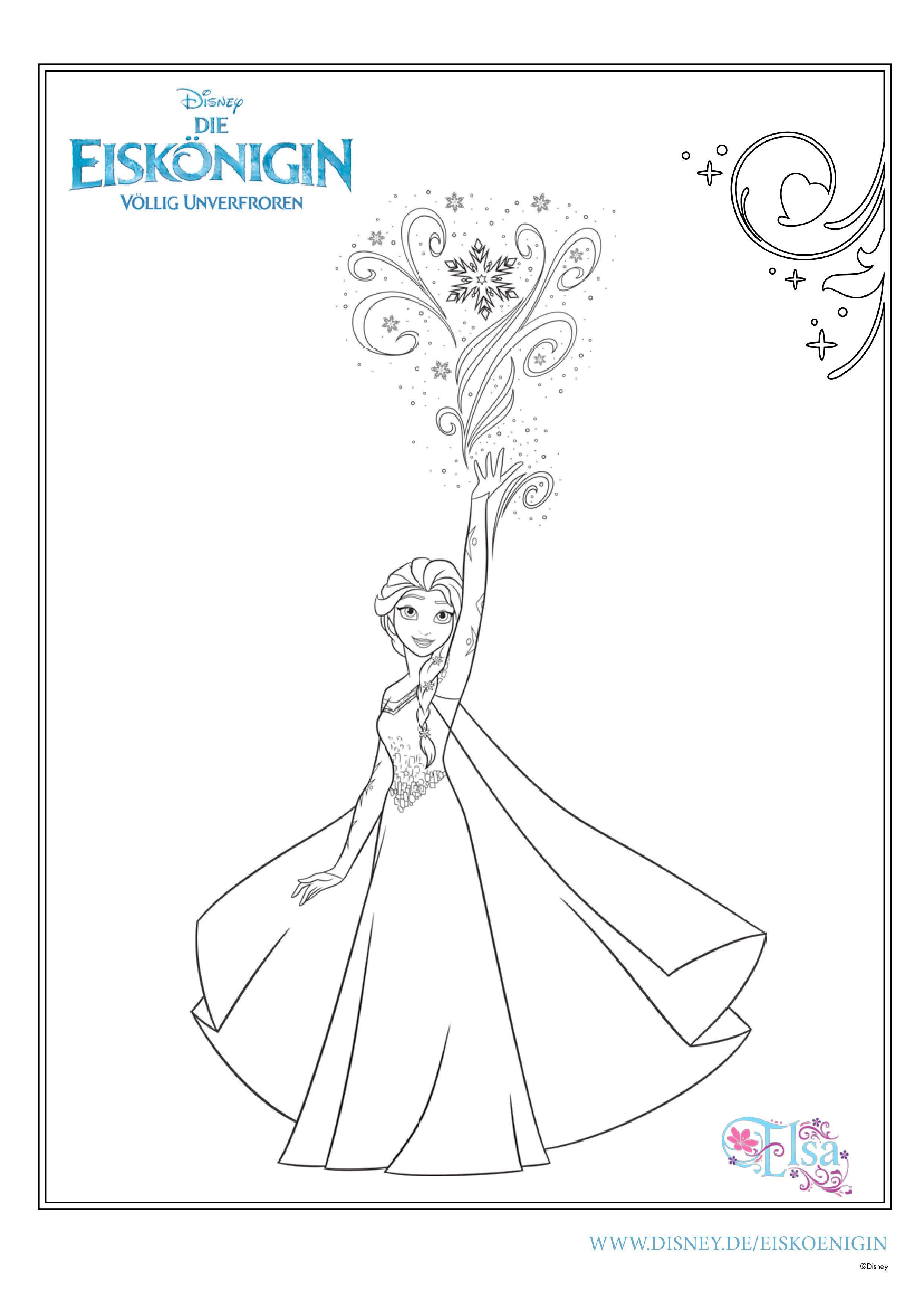 Ausmalbilder Eiskönigin: Elsas magische Fähigkeiten