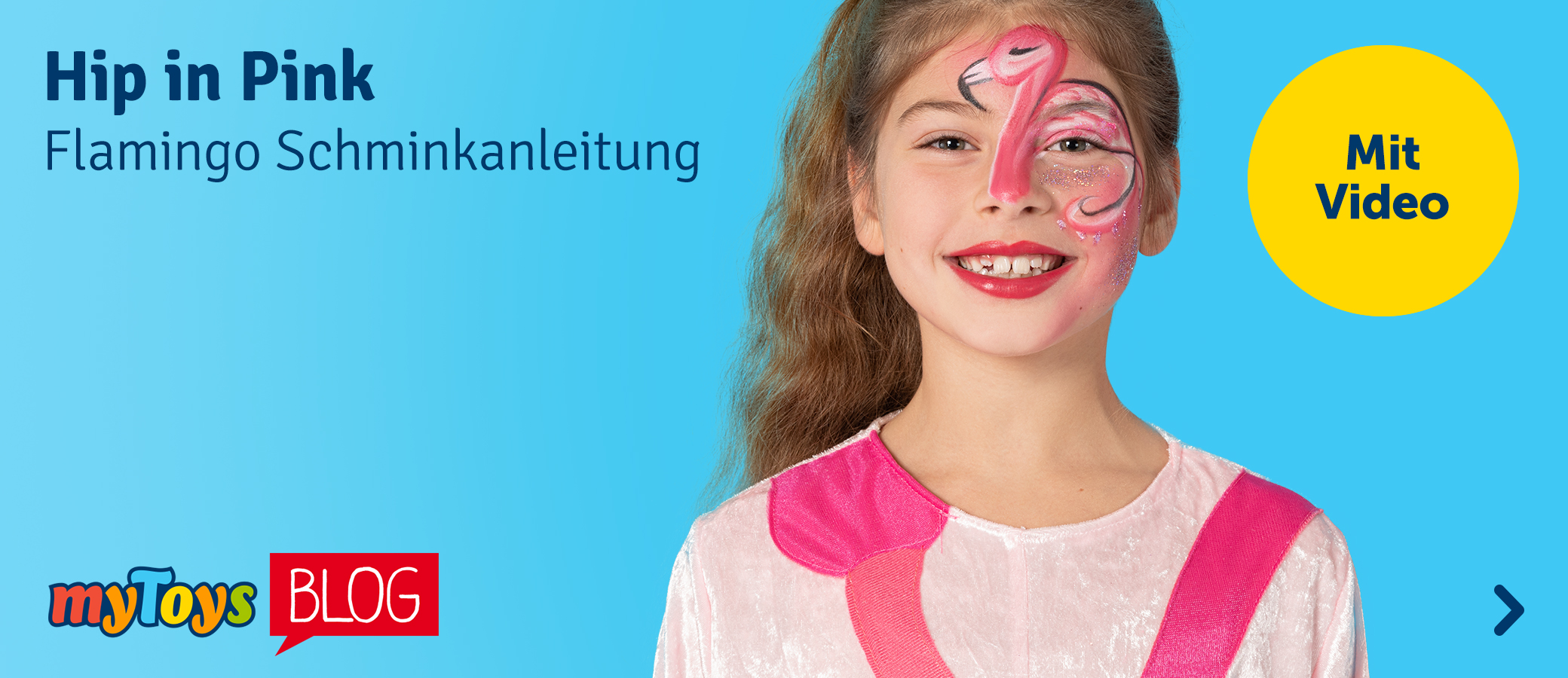 Flamingo schminken: Schminkanleitung mit Video