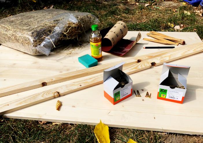 Igelhaus bauen Zubehör