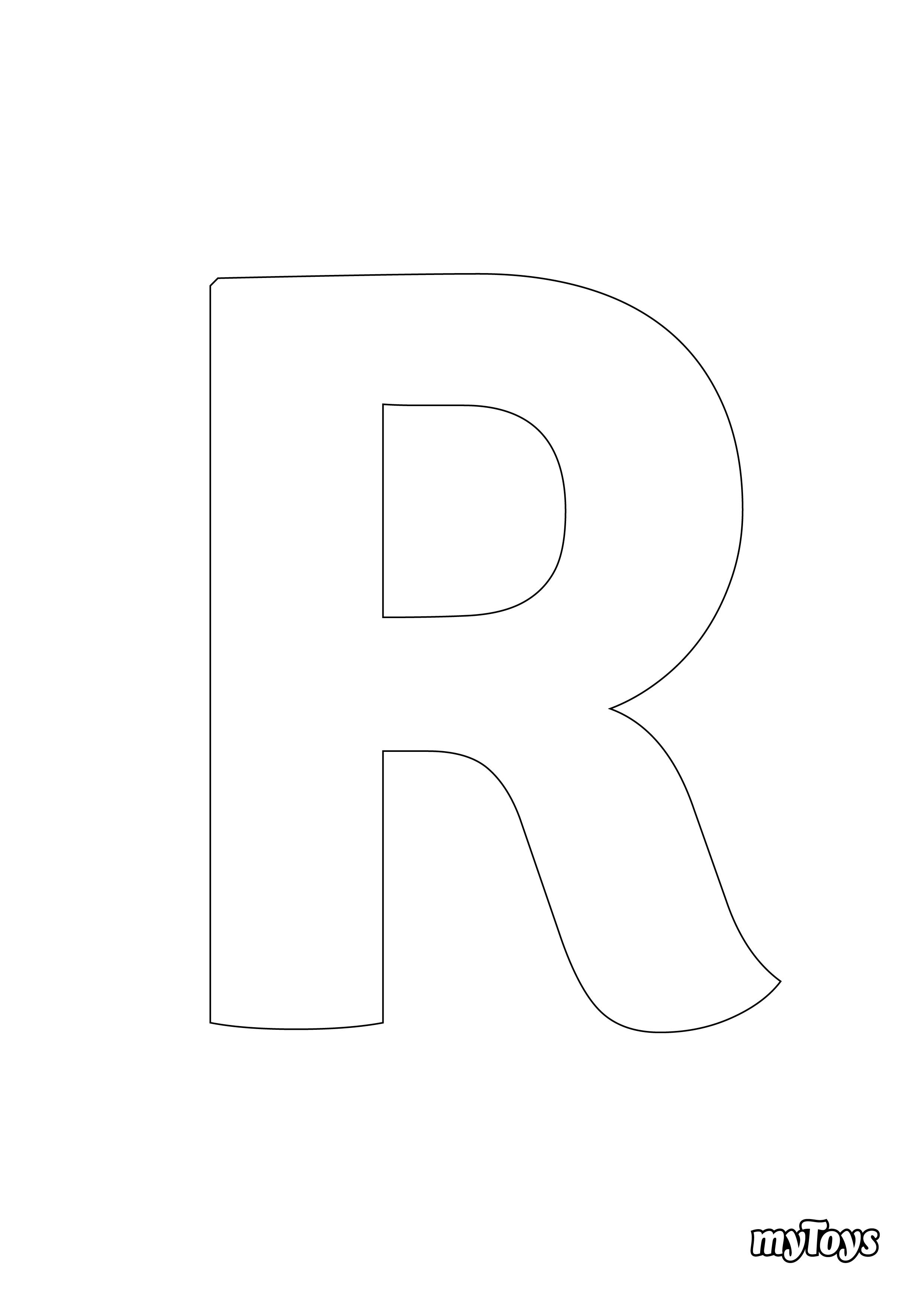 Ausmalbilder Alphabet - R