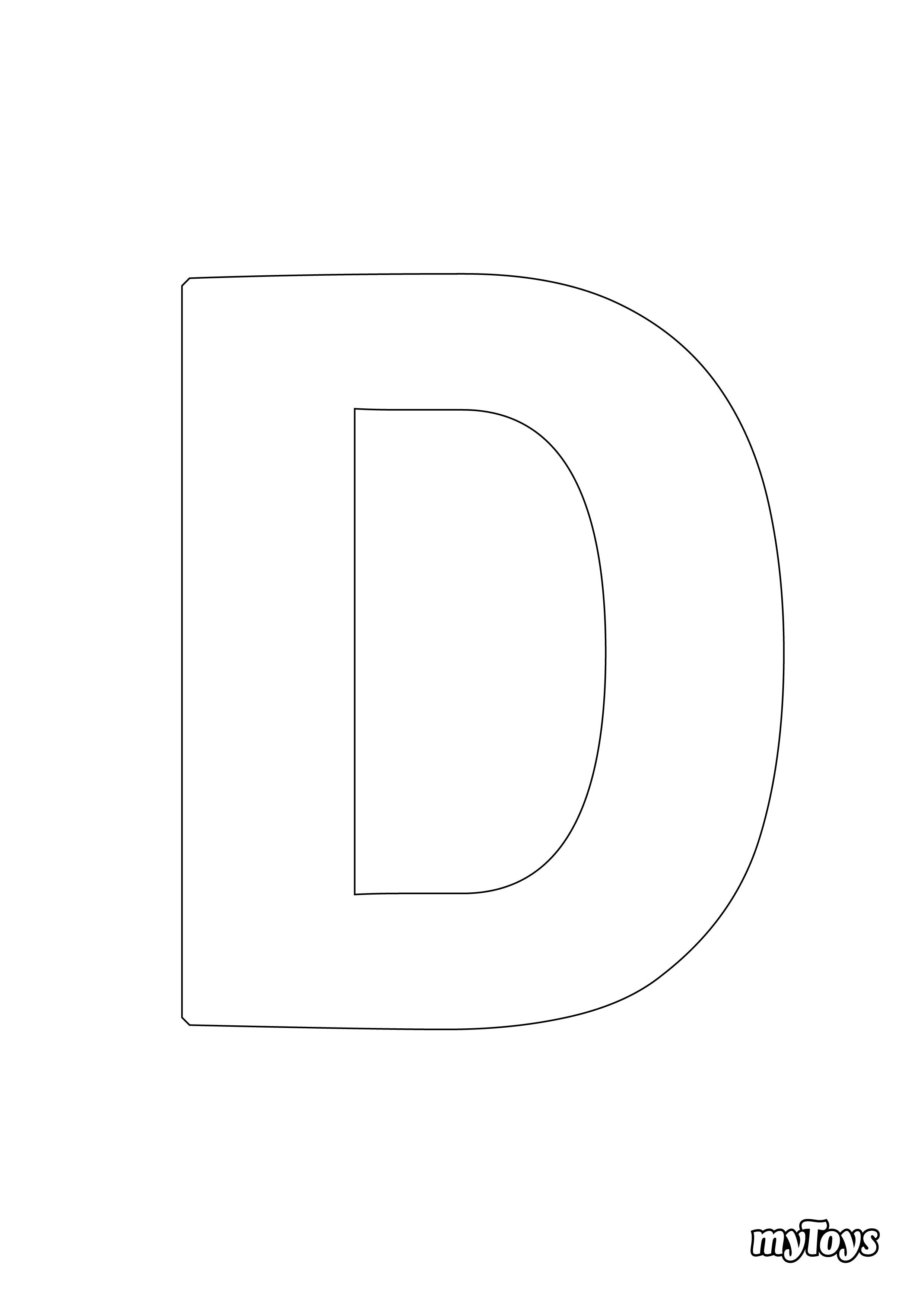 Ausmalbilder Alphabet - D