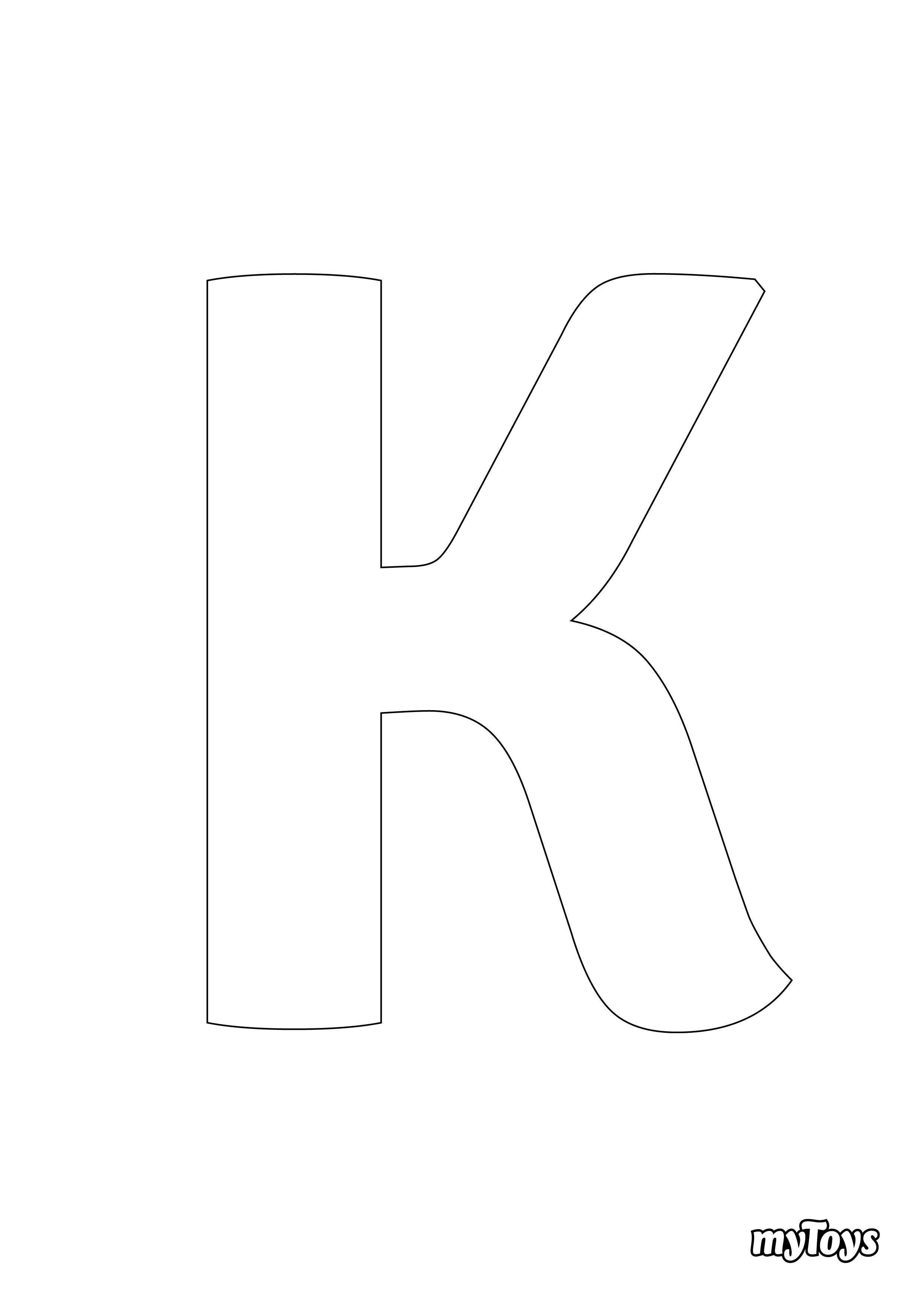 Ausmalbilder Alphabet - K