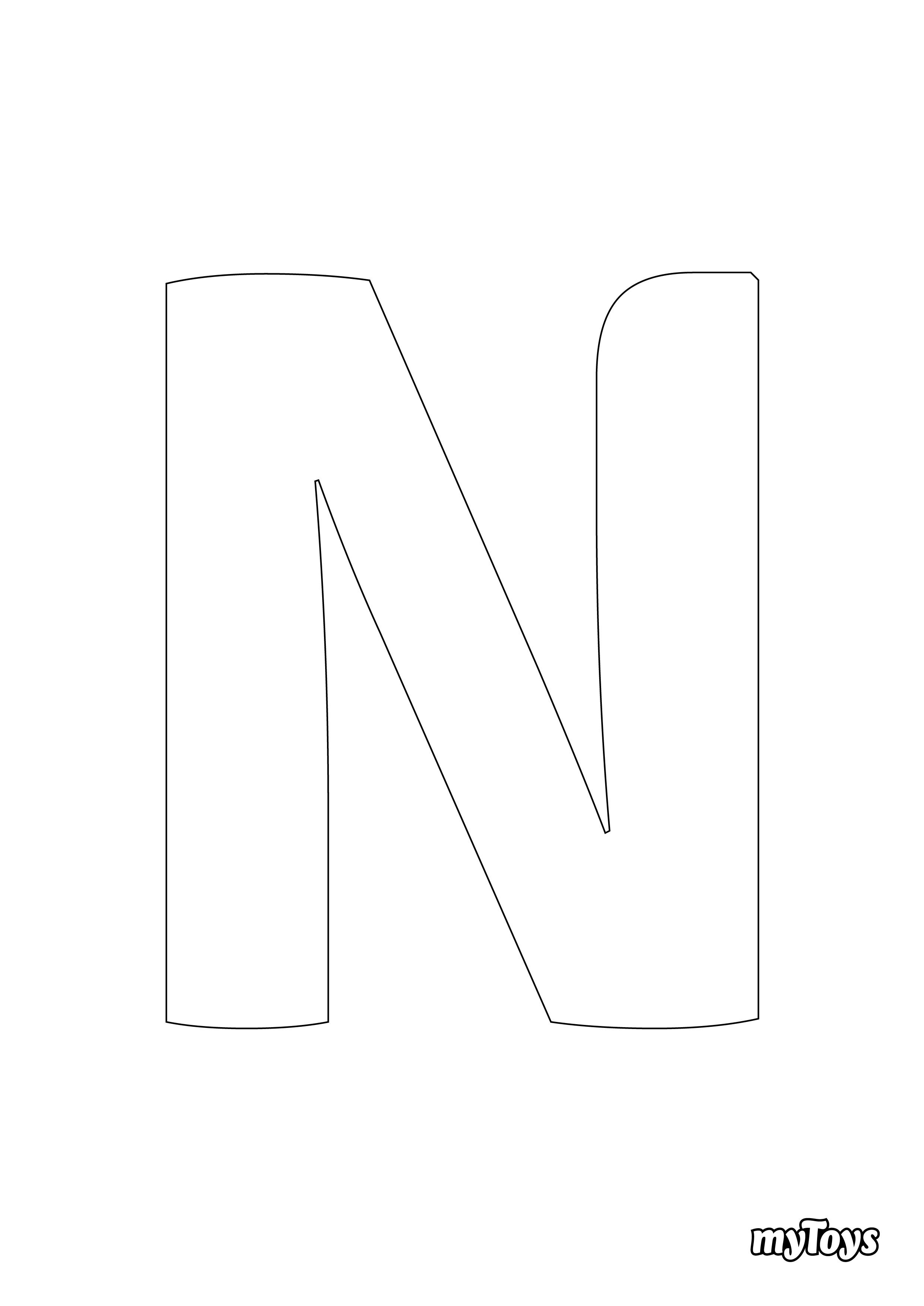 Spielerisch lernen - Ausmalbilder Buchstaben