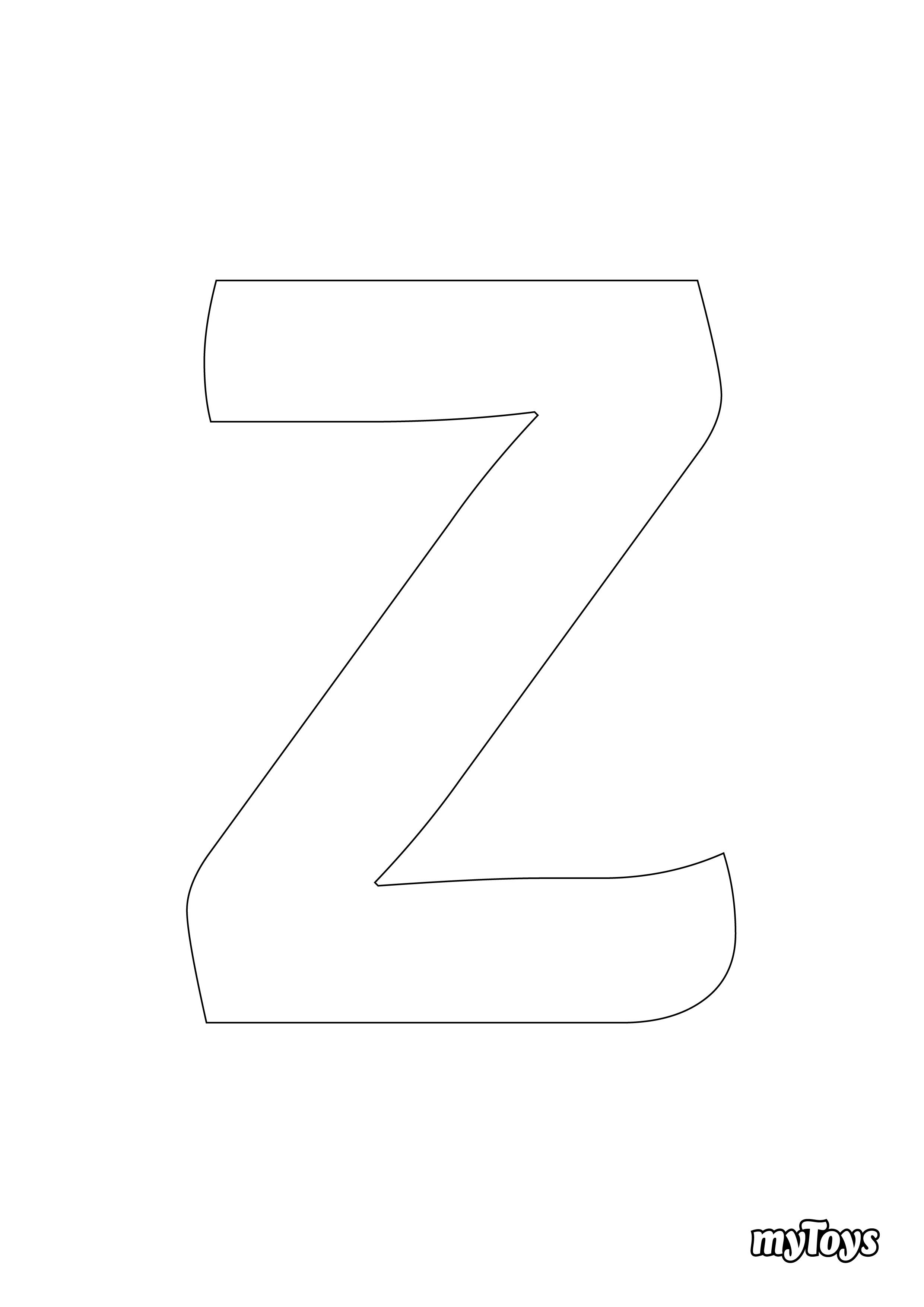 Ausmalbilder Alphabet - Z